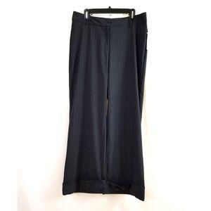 Worthington Size 12 Wide Leg Dress Pants Cuffed